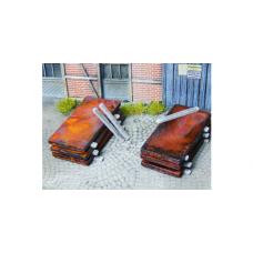 Load: Metal slabs rusty