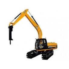 JCB JS220 excavator with hammer