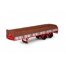 T.B.P. Flat trailer with covered load